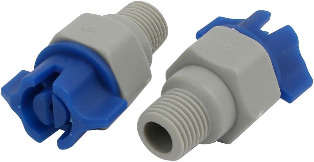 1//4BSP Thread Garden Plastic Spray Sprayer Flat Jet Nozzle Gray Blue 10 Pcs