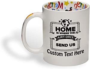 Ceramic Christmas Coffee Mug 11 Ounces Home Is Where The Air Force Sends Us A Countries Home Funny Tea Cup Home Personalized Text Here Personalized Text Here