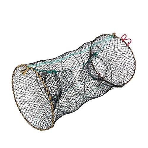 Saim Crab Crawfish Lobster Shrimp Collapsible Cast Bait Trap Nylon Net 25cm x 45cm (Lobster Basket)