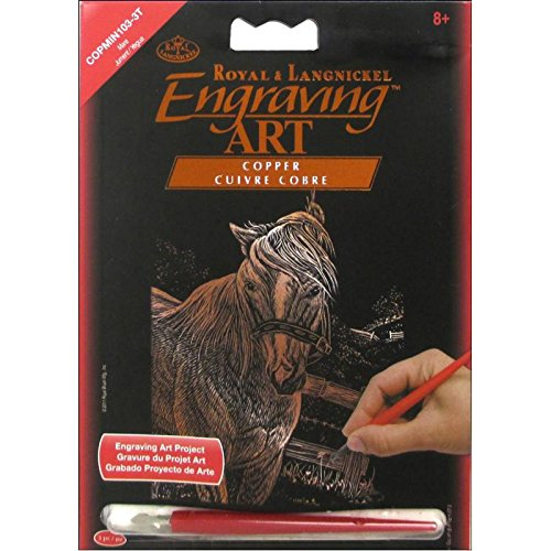 Royal Brush Copper Foil Engraving Mare Art Mini Kit, 5