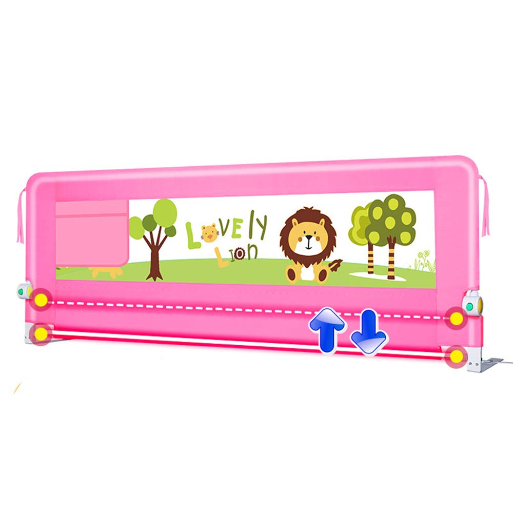 防滴ガードレール、幼児用安全ベッドフェンス、子供用幼児用フェンス、赤ちゃん防止用ガードレール、180度折り畳み式ベッドガードレール、68cm 180*68cm pink B07JW7M1RD