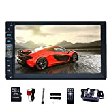 EinCar 7'' Touch Screen Double Din Car Stereo MP5 Player In Dash GPS Navigation AM FM Radio MP3 Audio 1080P Video Player Support Bluetooth/USB/TF/AV-IN/RCA output/EQ/Rear View Camera+Remote Control