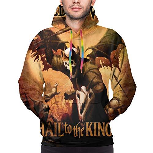 Avenged Sevenfold Hail to The King Men Leisure Printing Hoodie Sweatshirt S Black