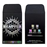 100 Original Black Silver Shatter Wax Extract Coin Holographic Foil Envelopes 2.25 x 3.5 #008
