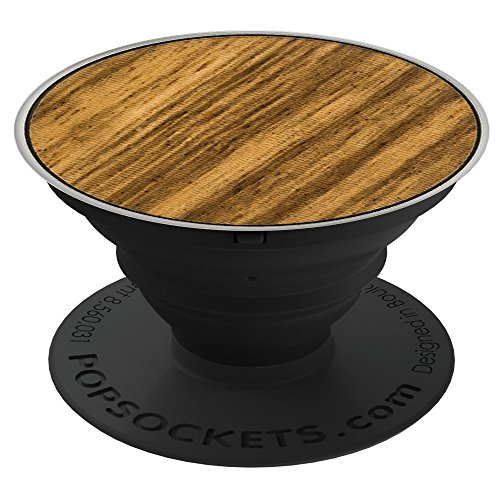 PopSockets: Collapsible Grip & Stand for Phones and Tablets - Zebrawood