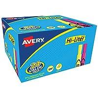 Estilo de escritorio HI-LITER, amarillo y rosa, paquete de 24 (98189)