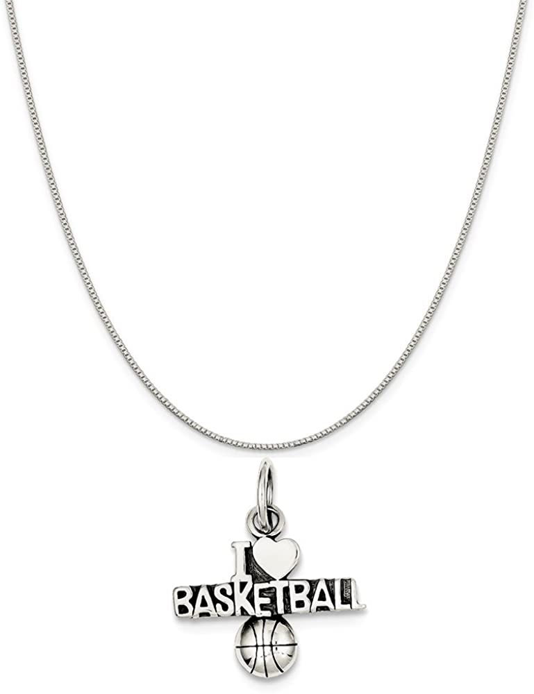 16-20 Mireval Sterling Silver Red Hat Charm on a Sterling Silver Chain Necklace
