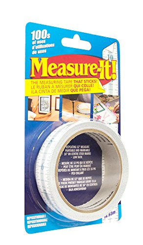 Intertape Polymer Group Measure-It MIT48 Self-Adhesive Meausuring Tape, 48-foot x 1-inch