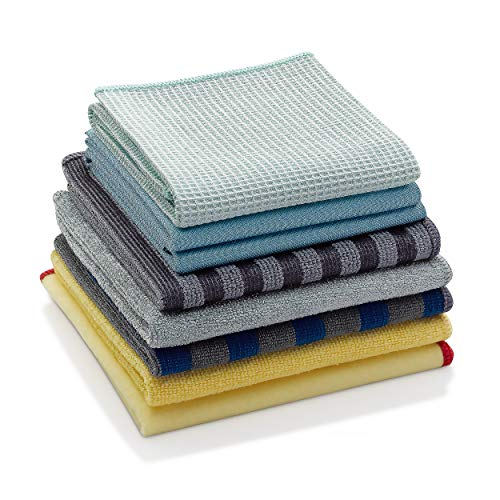 (E-Cloth Microfiber Home Cleaning Set for Chemical-Free Cleaning with Just Water, 8 Cloth)