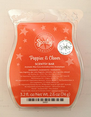 Scentsy Poppies Clover Wickless Squares