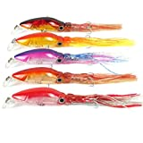 Aorace 5pcs/Lot Fishing Lures Tackle Squid Lures Fishing Bait for Sea or Fresh Water Big Fish