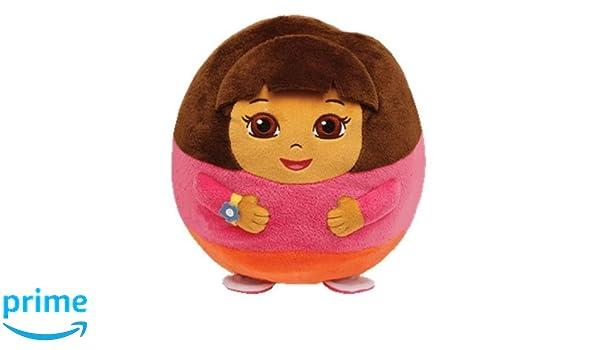 2df6787d2cf Amazon.com  Ty Nickelodeon Beanie Ballz 5   Plush DORA The Explorer Ball ~  NEW~ PrS  Toys   Games