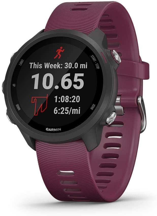 Garmin Forerunner 245, GPS Running Smartwatch with Advanced Dynamics, Berry (Renewed)