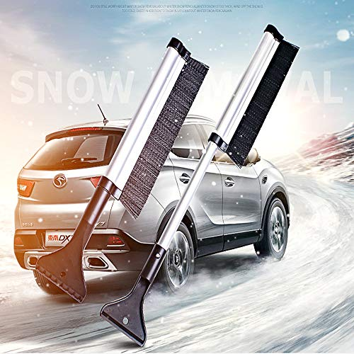 """DIY home Extendable Telescopic Snow Brush and Ice Scraper with ABS ShovelHead,AluminiumAlloy Snow Removal for Cars, Trucks, Windows Windshield Glass Scrape Frost Ice Remover Tool(16.5""""-26"""")"""