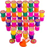 Kicko Mini Noise Putty Toys for Kids - Pack of 48 Slimes - Ideal for Sensory and Tactile Stimulation, Event Prize, Arts and Crafts, Bag Stuffer, Slime Parties, Educational Game, Assorted Color
