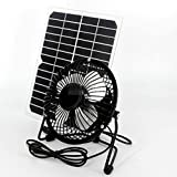 10w Powerd Ventilator USB Solar Cell Travel Cooling Cool Fan Solar Fan