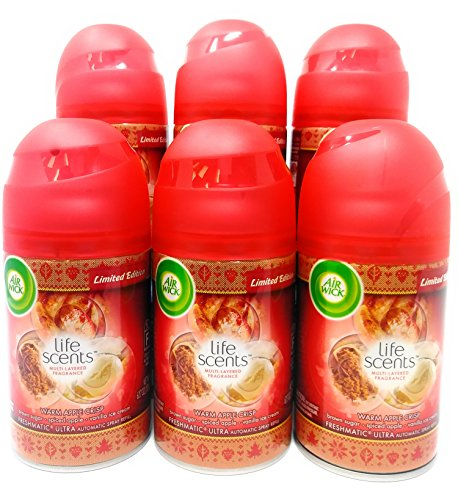 Air Wick Freshmatic Automatic Spray Refill Air Freshener, (6 Pack, Warm Apple Crisp) ()