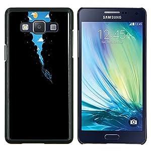 Surrealista Vía Láctea Buceo- Metal de aluminio y de plástico duro Caja del teléfono - Negro - Samsung Galaxy A5 / SM-A500