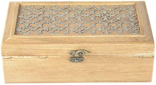 tapidecor Caja Madera Rectangular con TA PA Adorno Metal ...