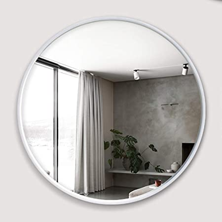 Round Mirror Modern Accent Large Vanity Mirror For Entryways Living Rooms Bathroom Home Mirrors Decor Circle Wall Mirror Black Amazon Co Uk Kitchen Home