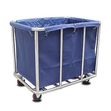 Carritos médicos Carros de Mantenimiento Coche de Reciclaje de Lino móvil para Hotel/Lobby,