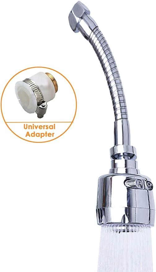 Ahorro de agua Manguera de grifo de la cocina aireador de grifo 360//° Swivel Boquilla Ajustable Boquilla