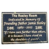 12 x 8'' Black granite dedication plaque