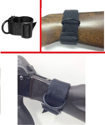 Ultimate Arms Gear Ambidextrous Slip On Stock Buttstock Black Sling Mount Strap Loop Adapter Rifle Gun Attachment with D-Ring For Mossberg Rifle & Shotgun 500 590 835 Maverick 88 12 20 Gauge (Buffer Mount Tube)