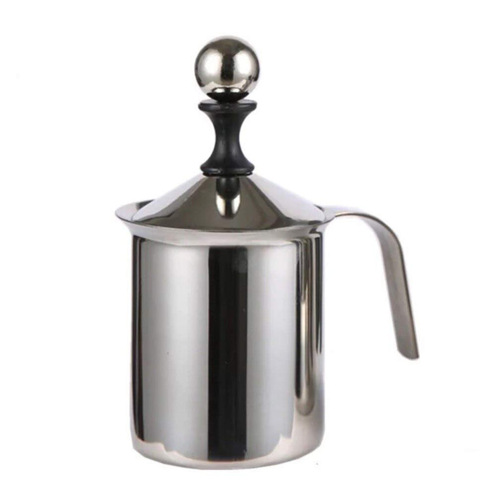 Other Dessert Tools - Durable 400 800ml Stainless Steel Milk Frother Foamer Coffee Cappuccino Manual 290858 - Cup Foam Milk Cappuccino Coffee Pitcher 1 Cappuccino Foam Milk Cappuccino Milk Skele by ATP New Kitchen (Image #6)