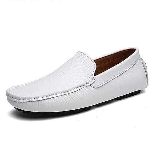 Zapatos Planos para los Hombres Mocasines de Cuero Split conducción Zapatos Casuales: Amazon.es: Zapatos y complementos