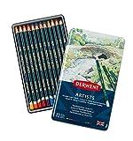 Derwent Artists Colored Pencils, 4mm Core, Metal