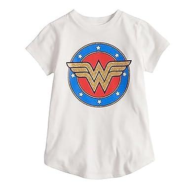 3e62f959866 Amazon.com  DC Comics Wonder Woman Girls Super Hero Shirt  Clothing