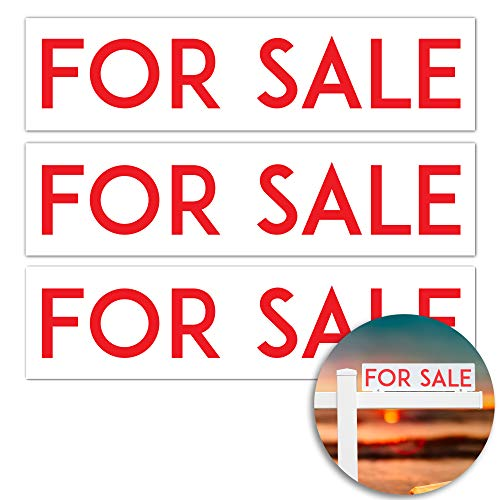 (for Sale X 3 Metal Real Estate Sign Riders: Aluminum, Double Sided, Premium and Professional)