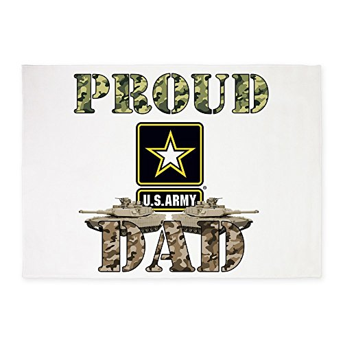 CafePress - Proud USA ARMY Dad - Decorative Area Rug, 5'x7' Throw Rug by CafePress
