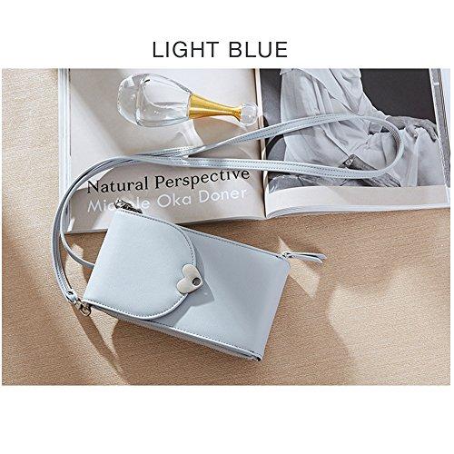 Azul de Claro al S Bolso para Piel hombro mujer Sintética Uniuooi xp4BUn1