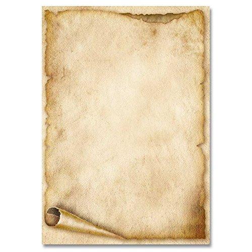 Din A5 Motivpapier Briefpapier Alte Papierrolle 100 Blatt 90gm²