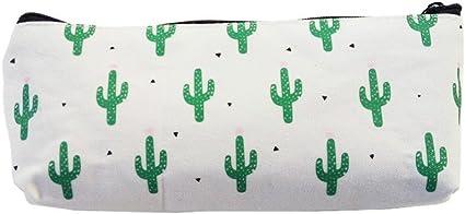Kawaii Lápices 1 unidad/lote Cactus estuches de lona bonito estuche de papelería caja de lápices de oficina y escuela, muchos cactus: Amazon.es: Oficina y papelería