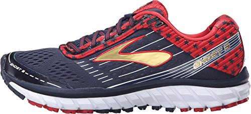 Brooks Women's Ghost 9 Peacoat Navy/True Red/Gold Running shoes - 9.5 B(M) US by Brooks (Image #1)