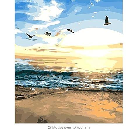 LIWEIXKY Immagini di Paesaggi Marini Pittura A Olio Fai da ...