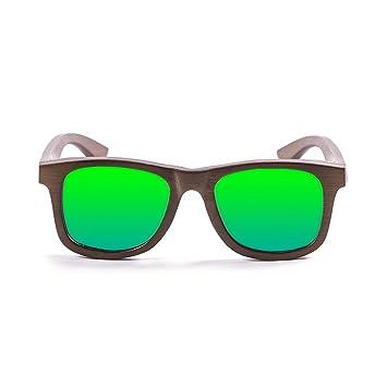 Ocean Sunglasses wood Victoria - lunettes de soleil polarisées en Bambou - Monture : Marron - Verres : Revo Vert (53003.1) eAdY0YMV
