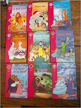 Amazon Fr Lot De 9 Livres La Bibliotheque Disney