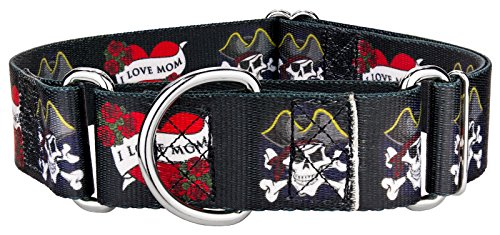 Country Brook Design | 1 1/2 Inch I Love Mom Martingale Dog Collar - Medium