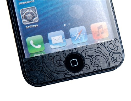 Delivery Time 20-30 Days 3D Floral Print Front & Back Skin Stickers for iPhone 5 (Transparent)
