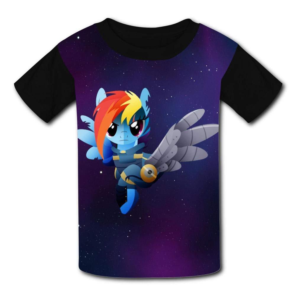 Children T-Shirts Rainbow Dash Crew Neck Short Sleeve Raglan Costume Tee Shirt Top