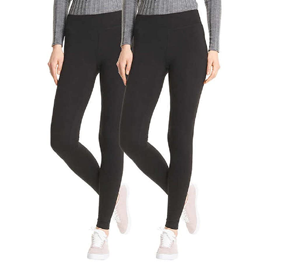 ee74864ecf093e Top1: HUE Every Day Leggings, Wide Comfortable Waistband,Ultra Soft Cotton,  Mid-Rise, 2 Pack
