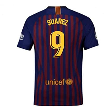 3b9e436f2 Image Unavailable. Image not available for. Color  2018-2019 Barcelona Home  Nike Football Soccer T-Shirt Jersey (Luis Suarez 9