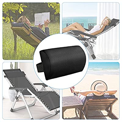Zero Gravity Chair Pillow headrest, Lounge Chair Pillow with Elastic band.