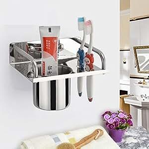 K steel stainless steel toothpaste toothbrush rack holder shelf wall mounted - Keep toothpaste kitchen ...