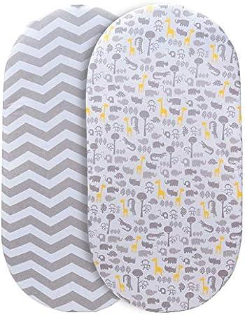 TALLA UNIVERSAL: estas sábanas de cuna se adaptan a casi todas las formas de colchones de cuna, sean
