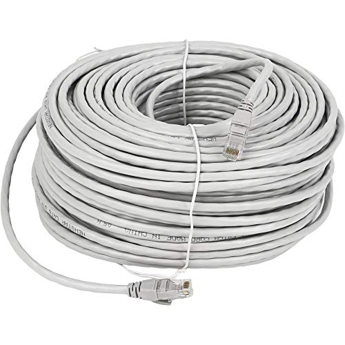 Lknewtrend 100FT Feet Cat6 Ethernet Patch Cable - UTP 550Mhz RJ45 Network Internet Wire Cord for Computer, PoE Camera, Router, Modem, Switch
